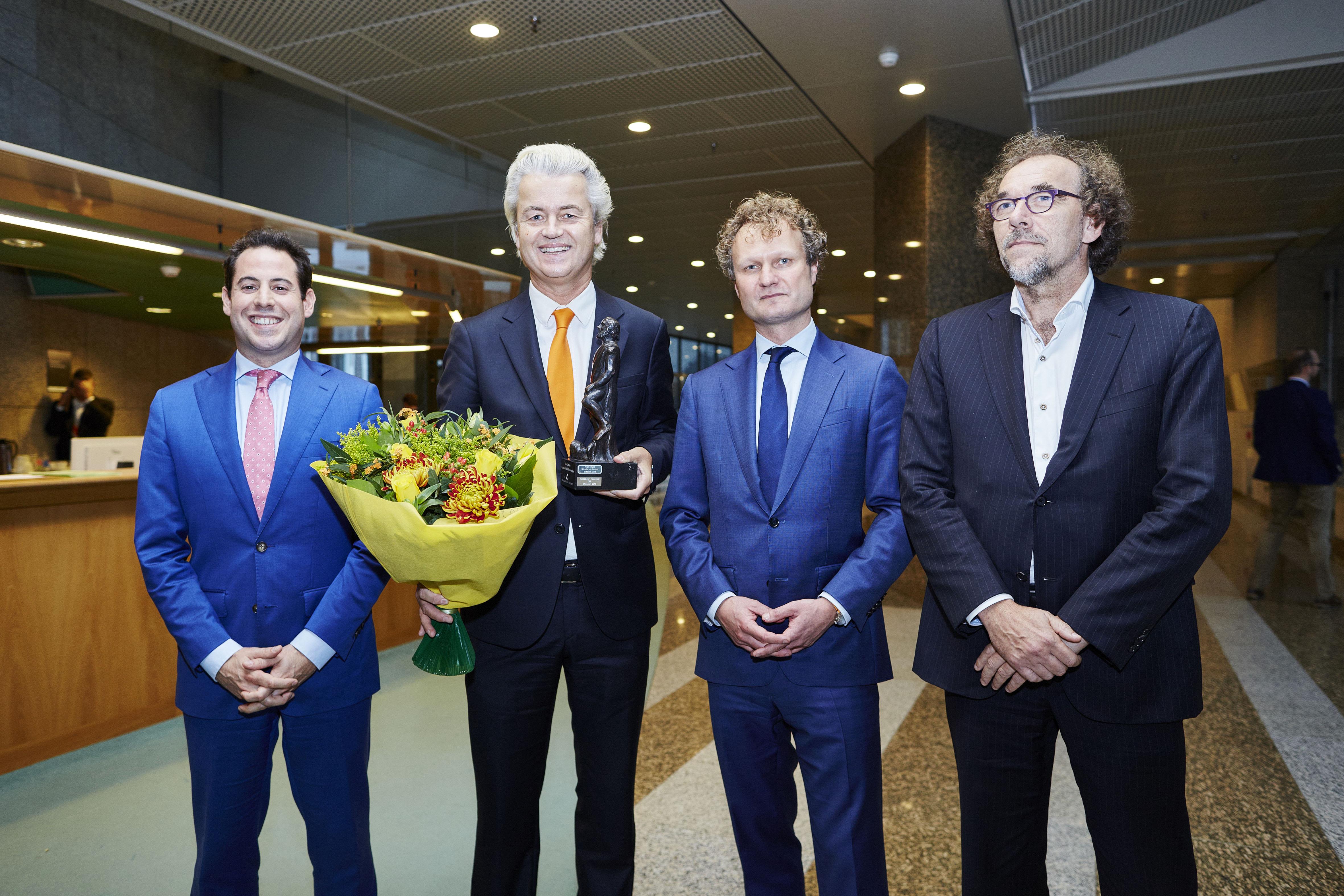 Wilders wint Debatprijs 2015