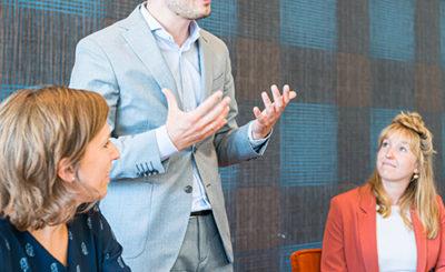 Slot bij presentaties