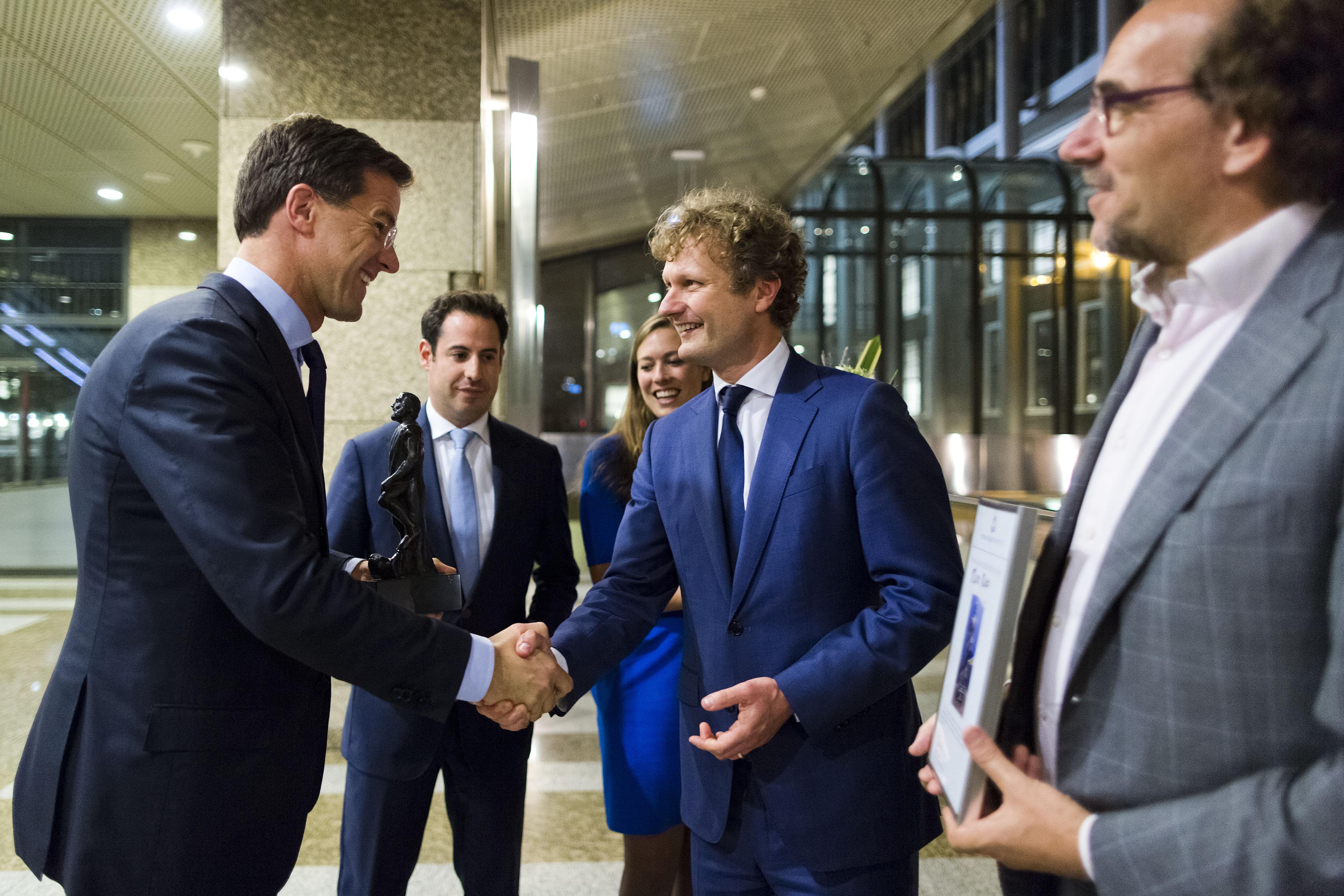 Rutte wint Debatprijs 2013
