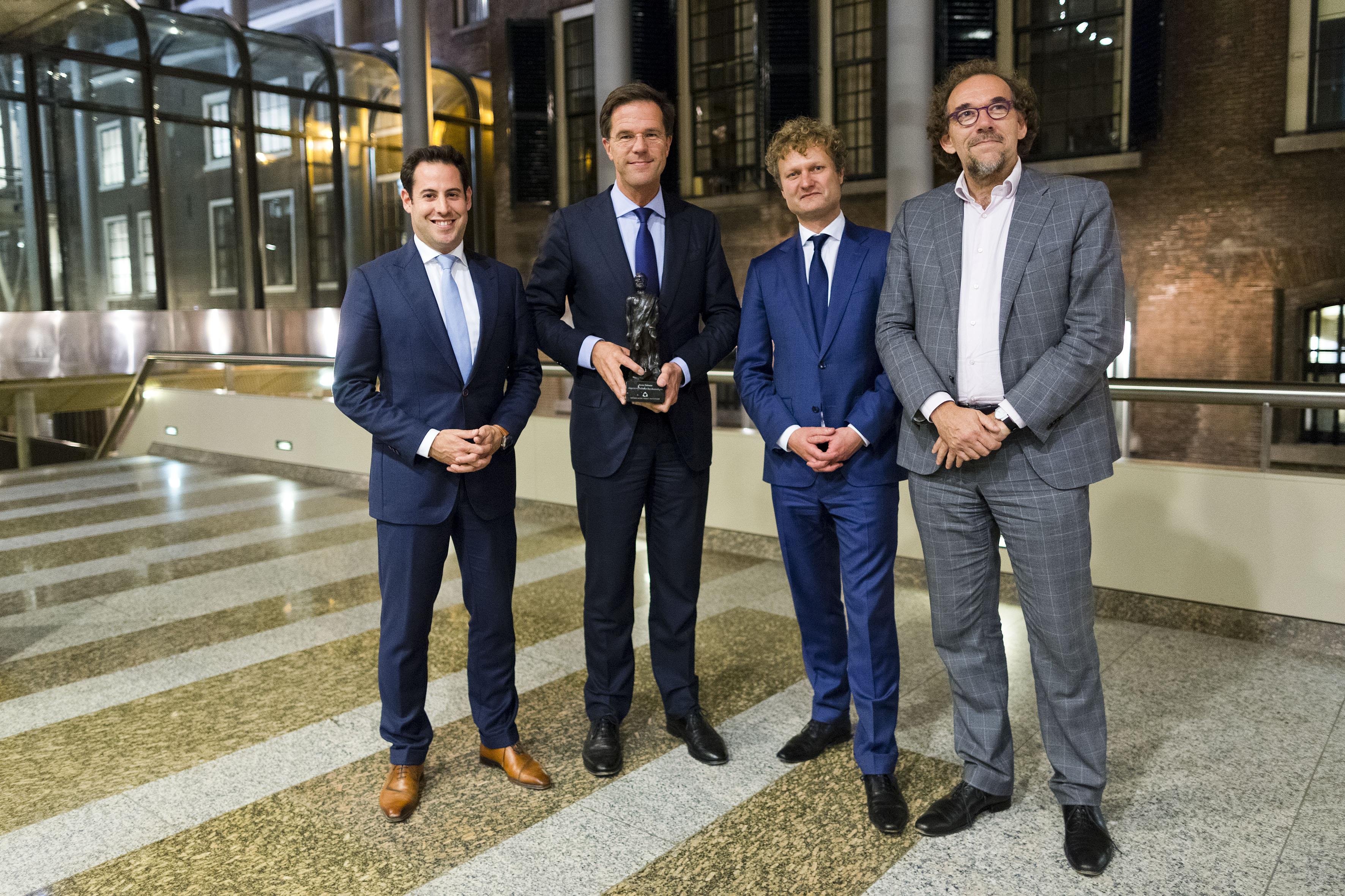 Mark Rutte wint Debatprijs tijdens de Algemene Politieke Beschouwingen