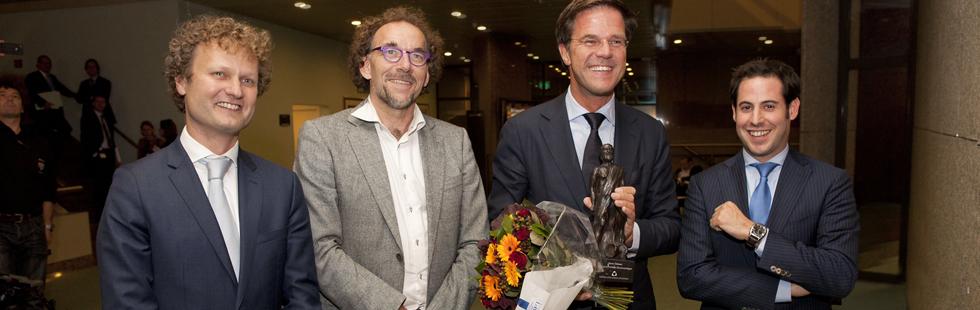 Mark Rutte wint de Debatprijs 2011